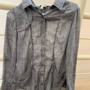 Free People gray button down